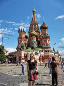 Eliana at St. Basil's Cathedral