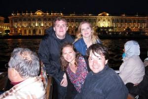 Daniel, Jackie and Eliana with guide Igor