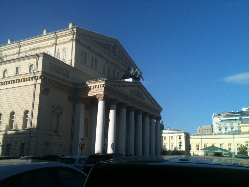 The historic Bolshoi theatre.