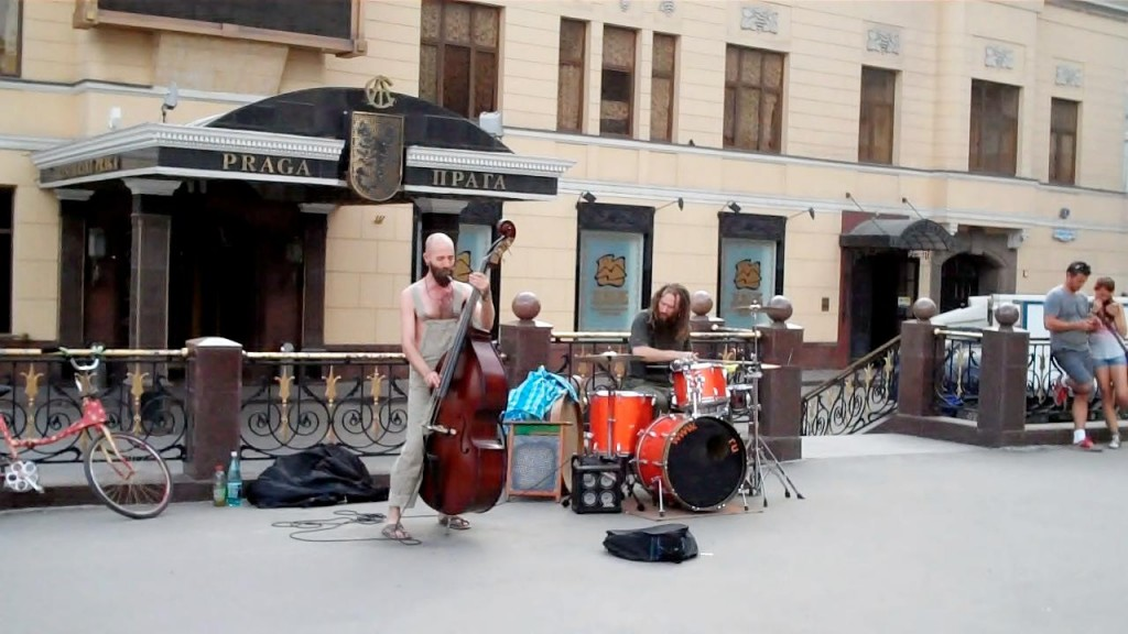 Some Moscow street musicians.