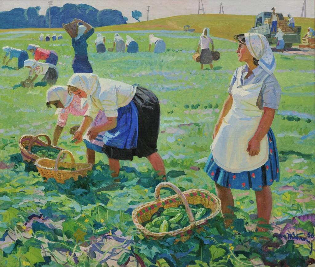 Picking Cucumbers by Tatyana Yablonskaya